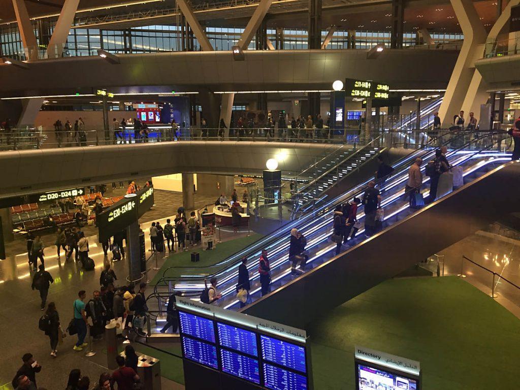 Schöne neue Welt am Flughafen von Quatar!